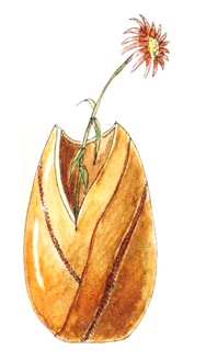 Ваза из тыквы